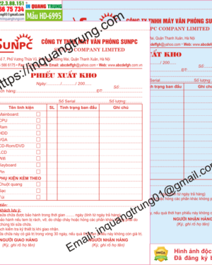 In hóa đơn bán hàng tại Đà Nẵng