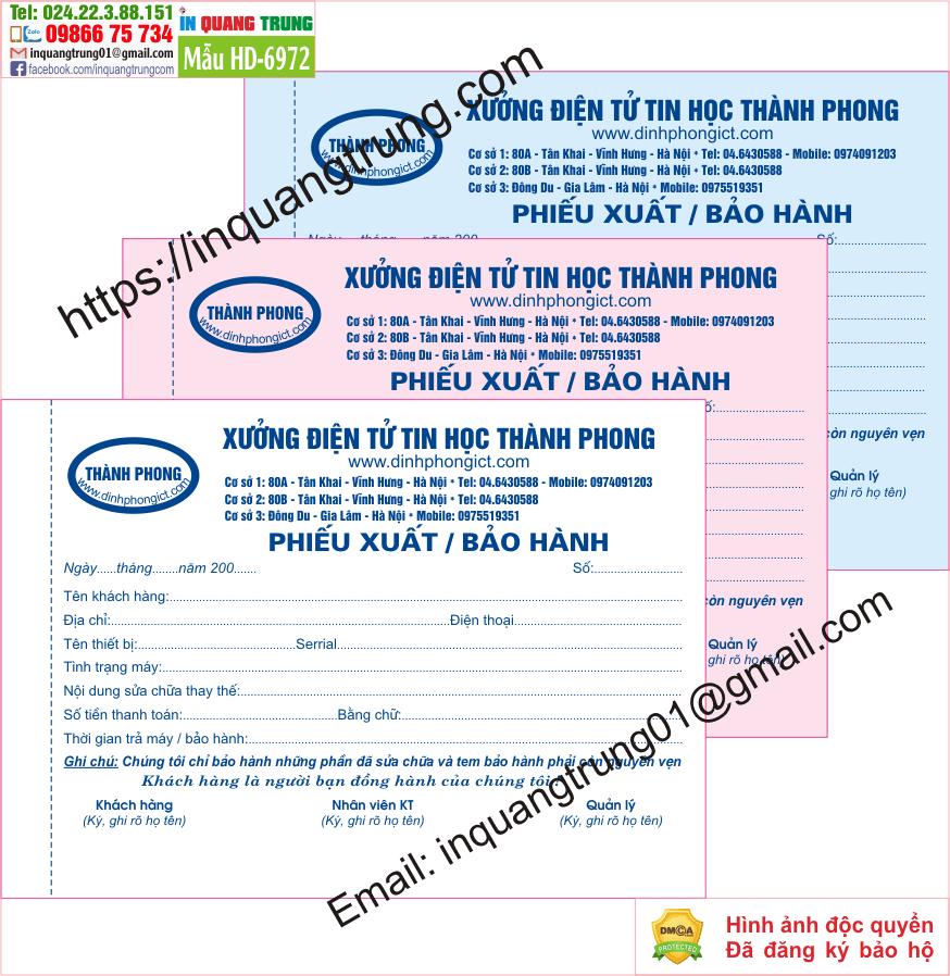 In hóa đơn bán hàng tại Đắk Lắk