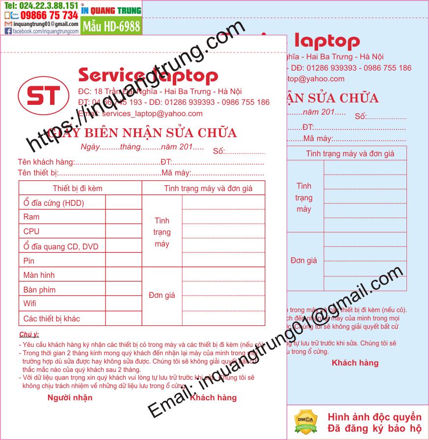 In hóa đơn tại Hà Giang