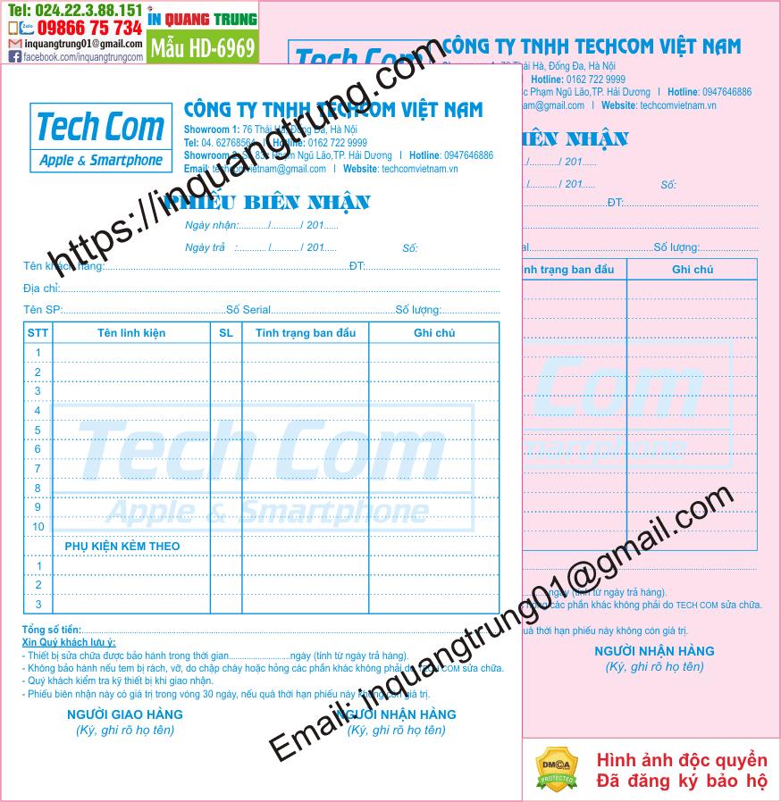 In hóa đơn bán hàng tại Hà Nội