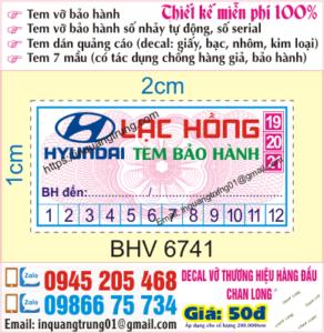 In tem bảo hành giá rẻ Lâm Đồng Uy tín, Chất lượng