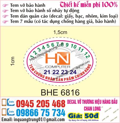 In tem bảo hành giá rẻ nhất Hà Nội