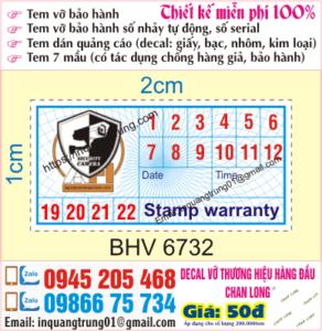In tem bảo hành giá rẻ tại Kon Tum, Ship Cod toàn quốc, thiết kế miễn phí
