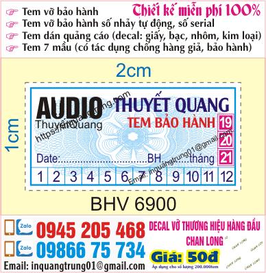 In tem bảo hành Hà Nội lấy ngay