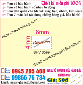 In tem bảo hành tại bến xe Yên Nghĩa
