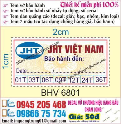 In tem bảo hành tại cầu Long Biên