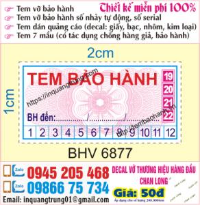 In tem bảo hành tại Cầu Lủ