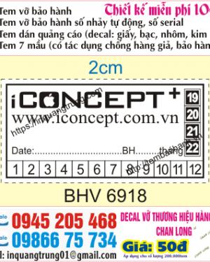 In tem bảo hành tại Chùa Bộc