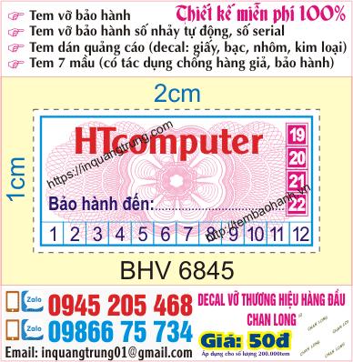 In tem bảo hành tại Định Công