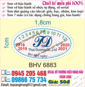 In tem bảo hành tại Giáp Bát
