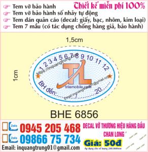 In tem bảo hành tại Hà Đông