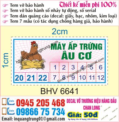 In tem bảo hành tại Hàng Gà