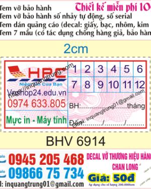 In tem bảo hành tại Khương Đình 50đ, mà làm mẫu demo nice & miễn phí 100%, giao tem nhận nhà
