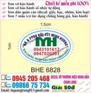 In tem bảo hành tại Khương Hạ