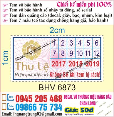 In tem bảo hành tại Kim Giang