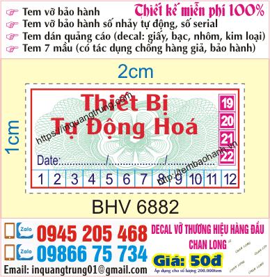 In tem bảo hành tại La Thành