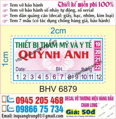 In tem bảo hành tại Láng Hạ