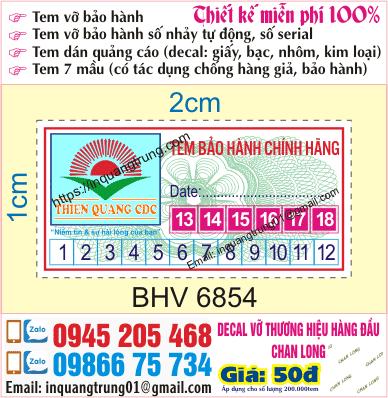 In tem bảo hành tại Mai Dịch