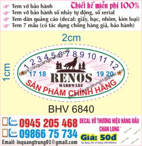In tem bảo hành tại Mê Linh