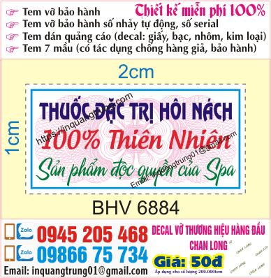 In tem bảo hành tại Minh Khai