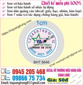 In tem bảo hành tại Nguyễn Khoái
