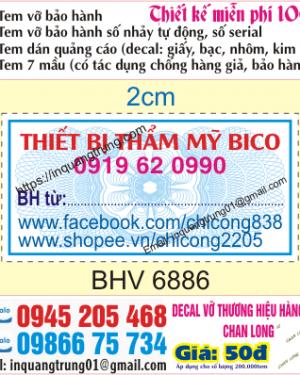 In tem bảo hành tại Nguyễn Trãi