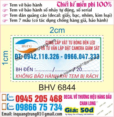 In tem bảo hành tại Nguyễn Viết Xuân