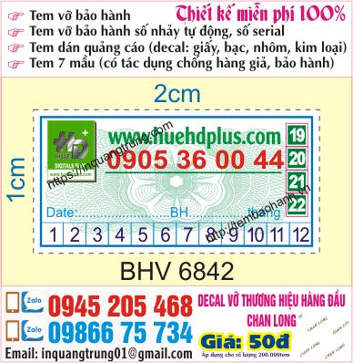 In tem bảo hành tại Phú Xuyên