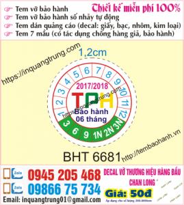 In tem bảo hành tại Tả Thanh Oai với giá 50đ, design đẹp và đương nhiên là free, giao tận nơi