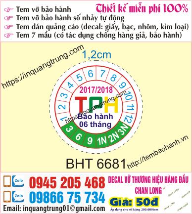 In tem bảo hành tại Tả Thanh Oai