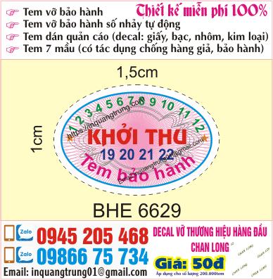 In tem bảo hành tại Thái Hà