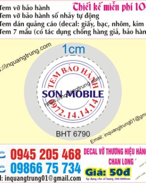 In tem bảo hành tại Thái Thịnh
