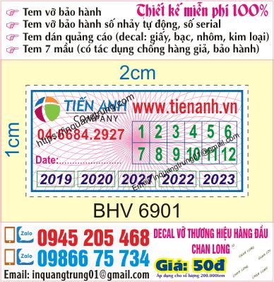 In tem bảo hành tại Thanh Oai