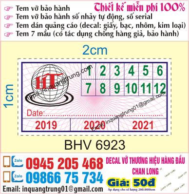 In tem bảo hành tại Thanh Trì