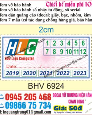 In tem bảo hành tại Thường Tín