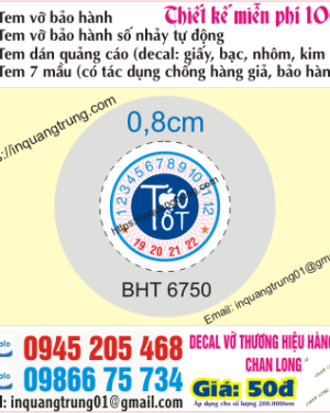 In tem bảo hành tại Tiền Giang