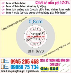 In tem bảo hành tại Trường Chinh