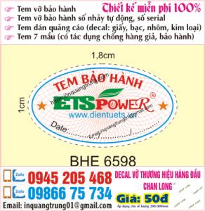 In tem bảo hành tại Ứng Hòa