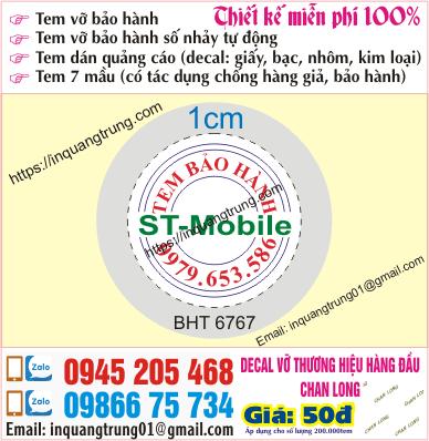 In tem bảo hành tại Xã Đàn