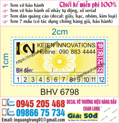 In tem bảo hành tại Cầu Nhật Tân