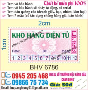 In tem bảo hành tại Nam Từ Liêm