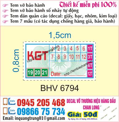 In tem bảo hành tại Sóc Sơn