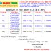 Bảng giá in hóa đơn bán lẻ 1 liên A5 + A6