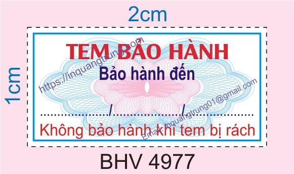 Mẫu tem bảo hành bán sẵn