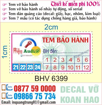 In tem bảo hành tại Bắc Từ Liêm, Hà Nội