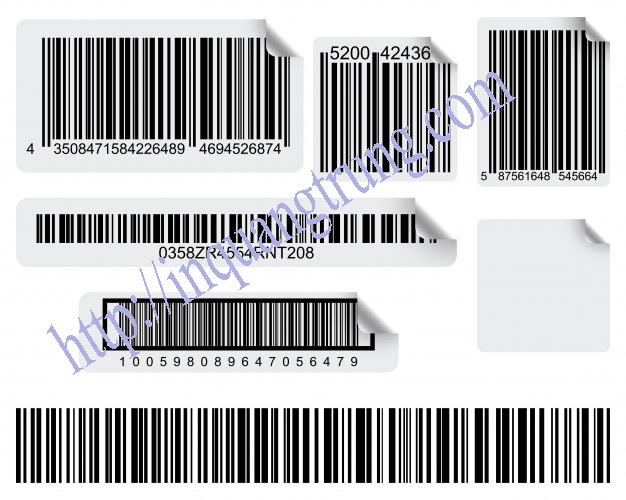 Tem mã vạch in chất liệu phù hợp