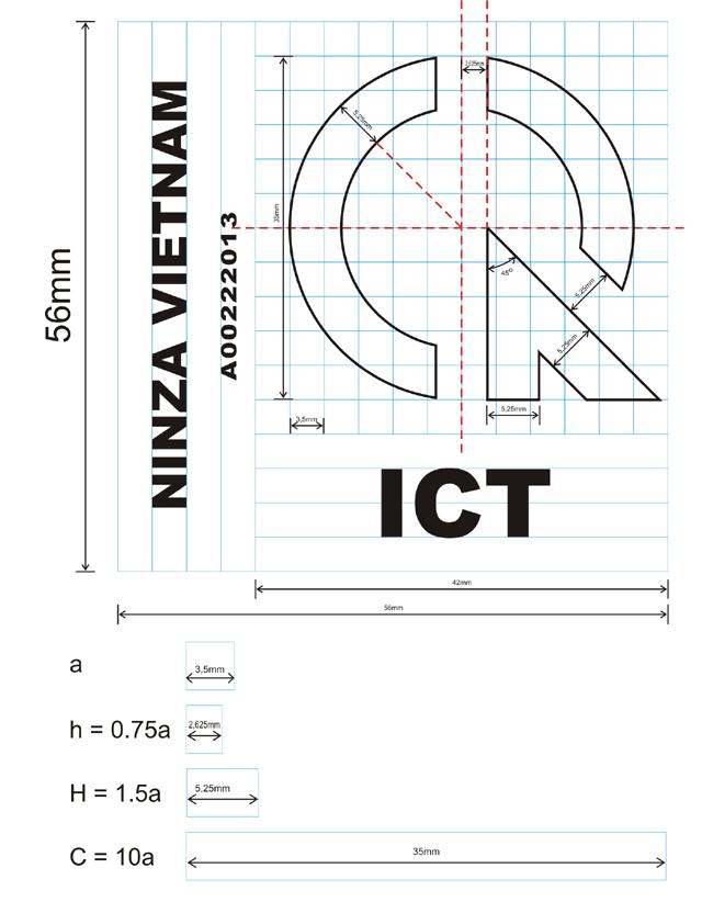 Kích thước tiêu chuẩn của tem hợp quy