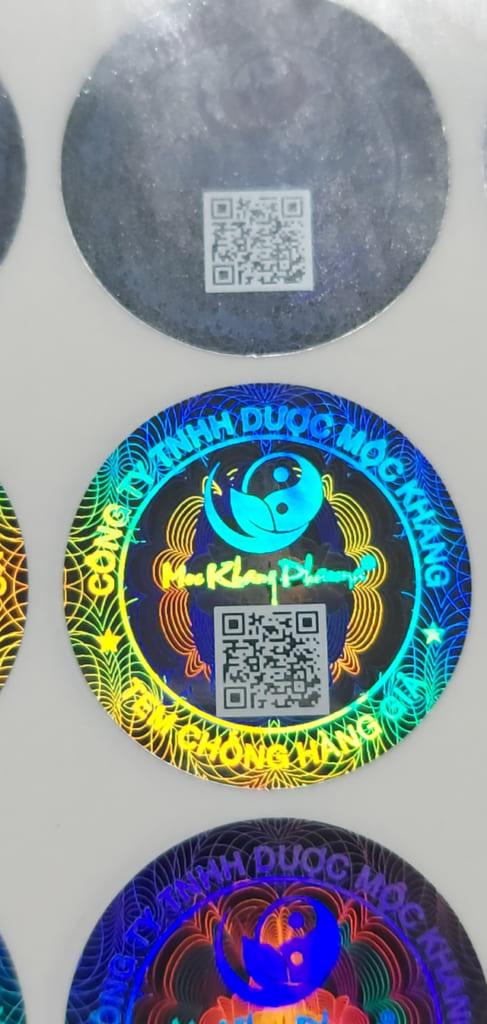 In tem chống hàng giả hologram chất lượng cao
