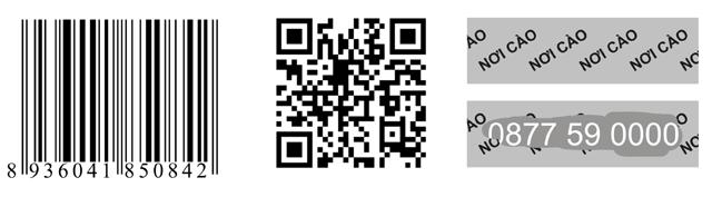Tem truy xuất nguồn gốc sản phẩm: QR Code ; Mã rạch ; SMS