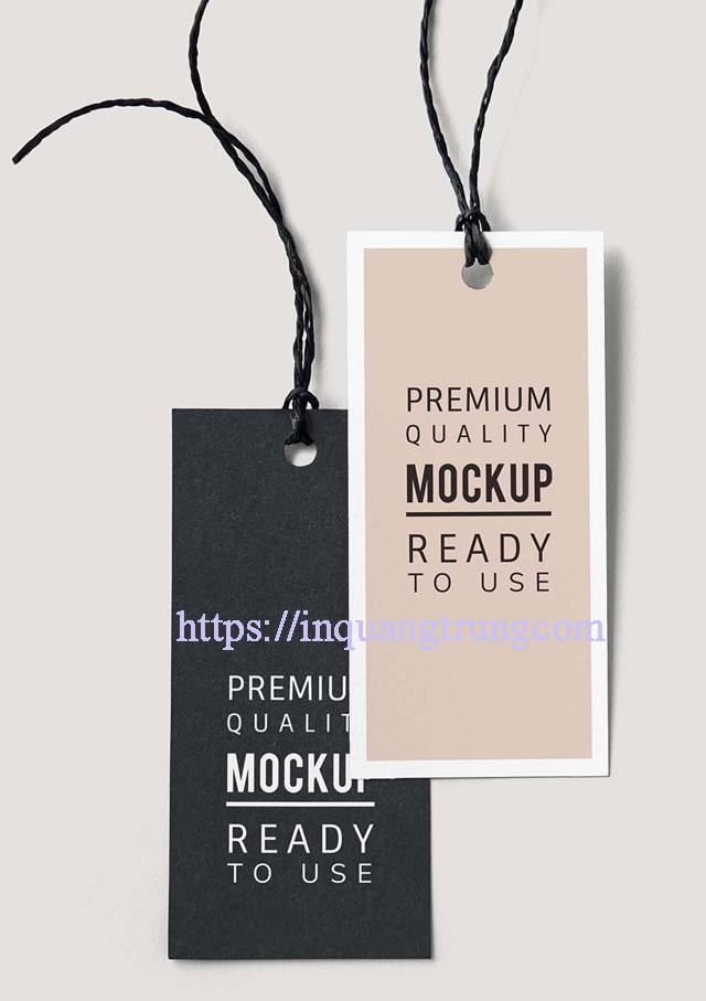Nội dung thông tin in trên mặt tem mác quần áo